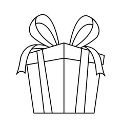 gift box party present decoration bow ribbon vector image