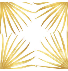 gold palm leaf background vector image
