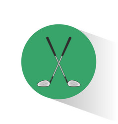 Golf clubs crossed stamp vector
