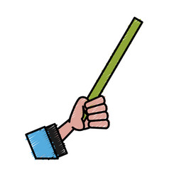Hand teaching symbol vector