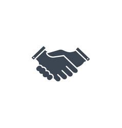 handshake related glyph icon vector image