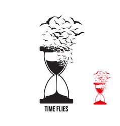 Hourglass with effect destruction vector