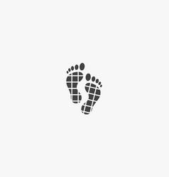 Human footprint icon logo design vector