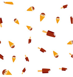 ice cream seamless pattern cold vanilla vector image