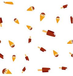 ice cream seamless pattern cold vanilla vector image