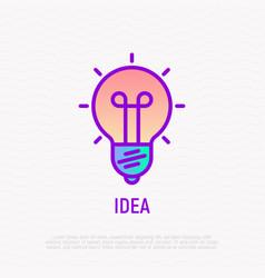 idea thin line icon modern vector image