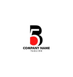 initial letter and number logo b and 5 b5 5b vector image