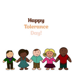 International day for tolerance bright picture vector