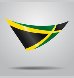 Jamaican flag background vector