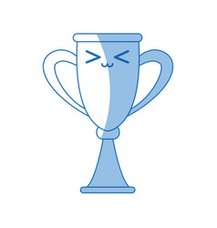 Kawaii trophy award competition winner icon vector