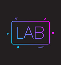 lab board icon design vector image