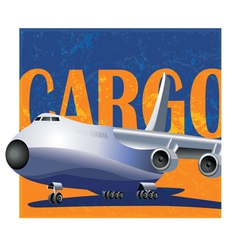 large cargo aircraft vector image