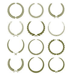 Laurel wreathes set vector