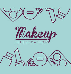 makeup and cosmetics design vector image