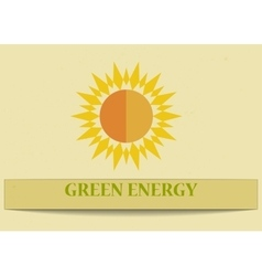 Making Money with solar energy vector image