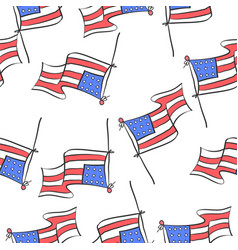 memorial day design doodle style vector image