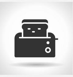 monochromatic toaster icon with hovering effect vector image