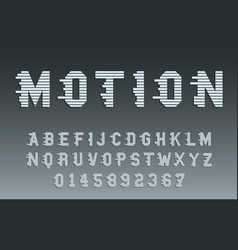 motion alphabet template movement typography vector image