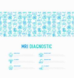 mri diagnostics concept with thin line icons vector image