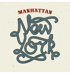 New York lettering print template vector image