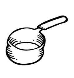 Pan doodle vector