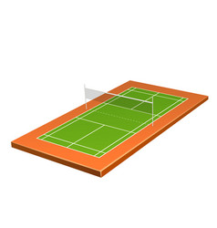 realistic badminton playground with net a vector image