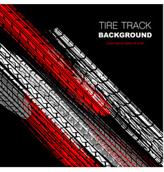 Red and black tire track wallpaper vector