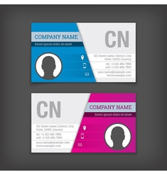 Set of business cards templates vector image