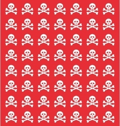 skull danger risk vector image