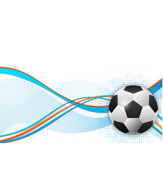 soccer ball design element abstract background vector image