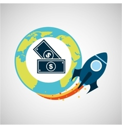 Start up and business money dollar vector