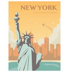 statue of liberty world landmark american symbol vector image