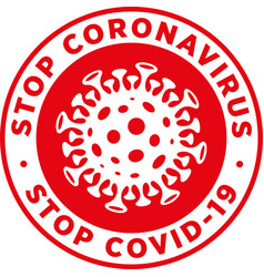 Stop coronavirus covid19 signage or sticker vector