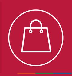 thin line shopping bag icon design vector image