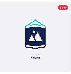 two color frame icon from furniture concept vector image