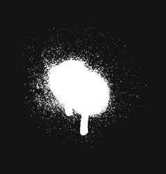 white spray paint stain vector image