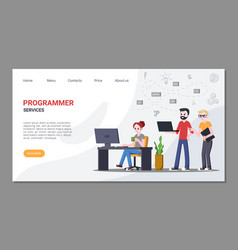 work and services for programmers home page vector image