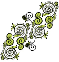 Zentangle hand drawn floral pattern vector image