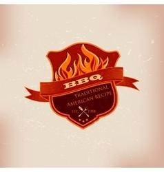 BBQ barbecue logo emblem design vector image vector image