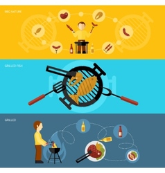 Bbq Grill Banner Set vector image