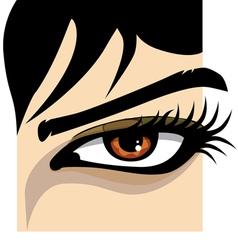 Beautiful Woman eye vector image
