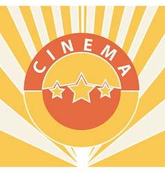 Cinema abstract background vector image vector image