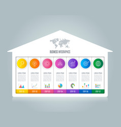 infographic design business concept with 7 options vector image