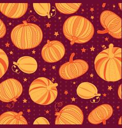 orange dark red pumpkins polka dots vector image vector image