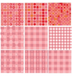 set of seamless red backgrounds vector image vector image