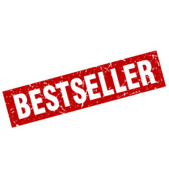 square grunge red bestseller stamp vector image vector image
