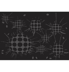 duoton background blot grey balls vector image