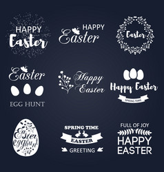 easter logo spring wishes overlays vector image vector image