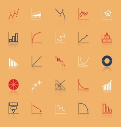 Economic and investment diagram line icon with vector image