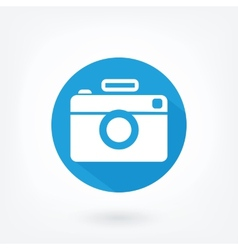 Flat styled icon of film camera vector image